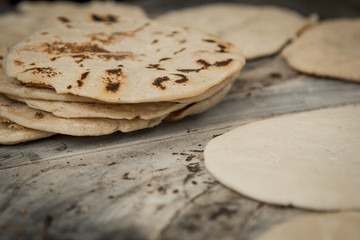 Close up tortillas texture