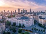 Fototapeta London - Warszawa z lotu ptaka © Aleksander