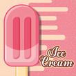 ice cream popsicle sweet flavor sparkles vector illustration