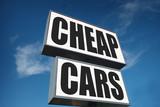 cheap cars sign - 209404264
