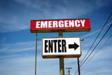 emergency room sign - 209404279