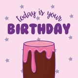 sweet cake birthday kawaii style vector illustration design - 209407055