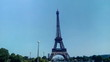 View of Eiffel Tower from Jardins du Trocadero in Paris, France.