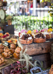 Cronuts and sweet treats at a market in Sydney, Australia