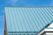 Building with a corrugated metal roof