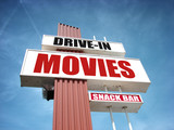 drive in movies sign - 209415872