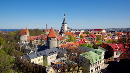Tallin, zabytkowa stolica Estonii z piękną architekturą w kraju Unii Europejskiej znajdującym się w Europie Wschodniej