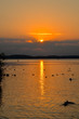 Leinwanddruck Bild - Sonnenuntergang Waren Müritz