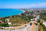 Aerial view of ancient Side town in Turkey - 209437810