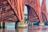 Forth Bridge, railway bridge over Firth of Forth near Queensferry in Scotland - 209440206