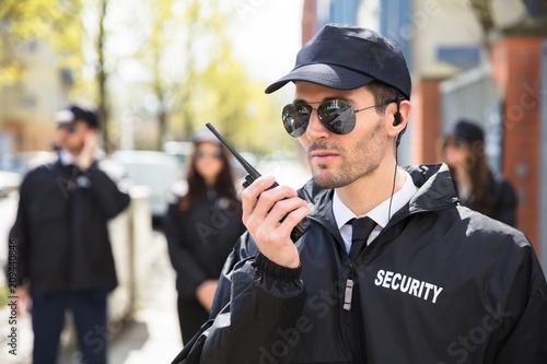 Portrait Of A Male Security Guard