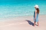 Adorable little girl at beach - 209450697