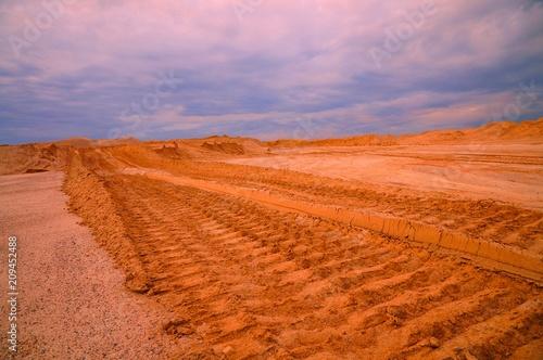 Fotobehang Lichtroze пустыня