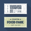 Coupon Ticket Card. Retro Vintage Template Design. Vector illustration - 209453894