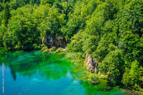 Foto Murales plitvice lakes landscape