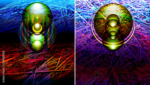 Abstract futuristic banners, backgrounds templates with modern light effects and scientific pattern, texture