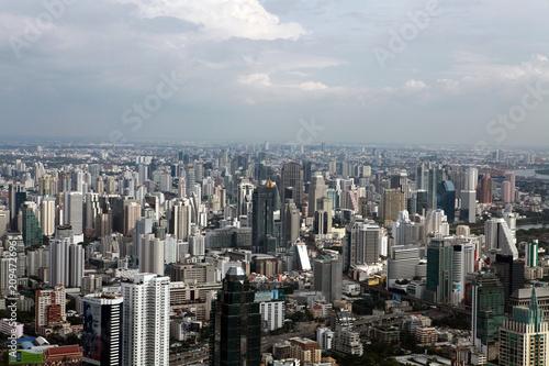 Fotobehang Bangkok Bird eye view of Bangkok skyscrapers