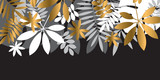 Luxury abstract tropical leaves design element