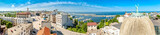 Aerial panorama of the old town in Constanta, Romania. Constanta, founded as a colony almost 2600 years ago, is the oldest attested city in Romania. - 209477236