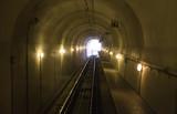 Train tracks in a tunnel - 209478214