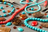 Ammonite,tools, beads, accessories for making jewelry. Needlework. - 209485655