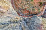 rock formation and creek - aerial view - 209487086