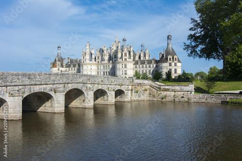 Foto Murales Chambord castle (chateau) in Loire valley, France