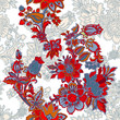Seamless pattern with floral ornament - 209499056