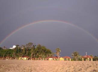 Rainbow On Aguada Puerto Rico Beach