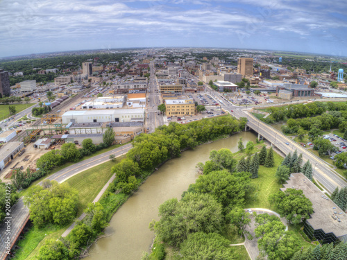 Fargo is a the largest City in North Dakota on the Red River - 209513225