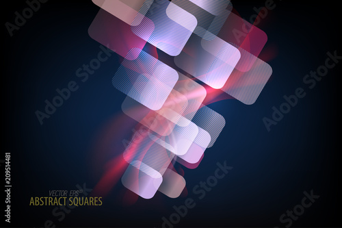 Abstract squares translucent color vector wallpaper background - 209514481