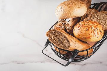 Variety homemade grain bread