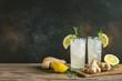Leinwanddruck Bild - Ginger Ale or Kombucha