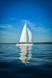 Vertical view on Swedish sailboat - 209524261