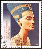 Nefertiti Bust on german postage stamp