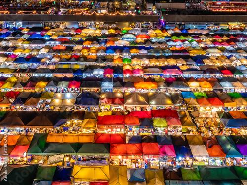 Plexiglas Bangkok タイのナイトマーケット