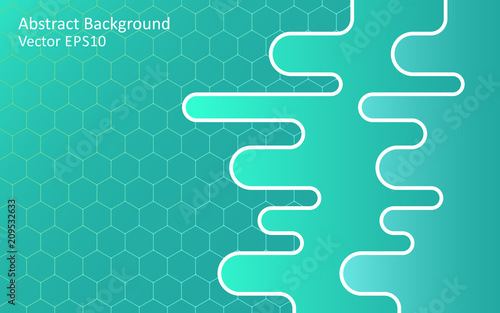 Aluminium Abstractie Art Turquoise green abstract vector background