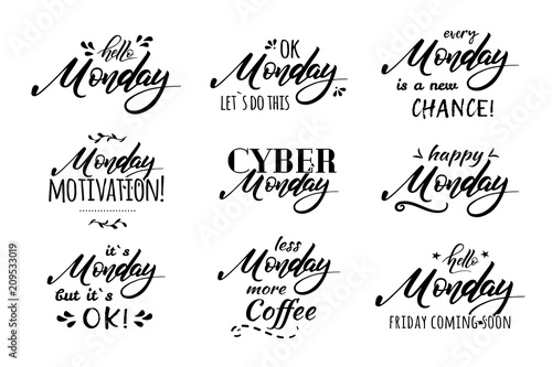 monday coffee lettering