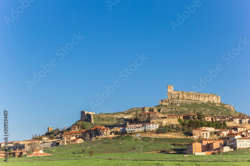 Poster Castle on top of the hill in Atienza, Spain