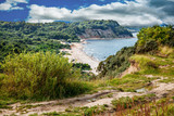 peaceful seascape with steep banks - 209543661