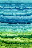 Watercolor Background with Blue and Green Stripes - 209543662