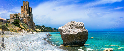 Plexiglas Freesurf beautiful beaches and castles of Italy - Roseto Capo Spulico in Calabria