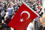 Turkey streets were decorated with flags by the political parties for the upcoming presidential elections. - 209552201