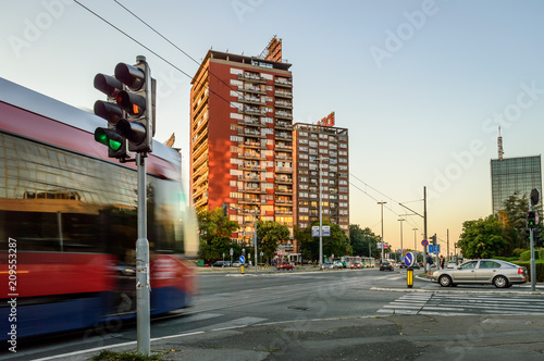 Wall mural Belgrade Tram