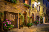 Pienza by night, Tuscany