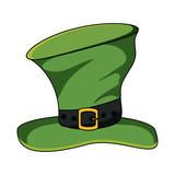 irish top hat iconover white background, vector illustration - 209555207