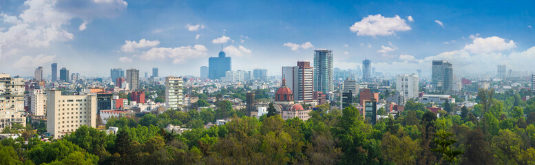 Panoramic view of Mexico city. © mariana_designer