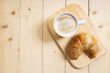 Coffee with croissant - 209558264