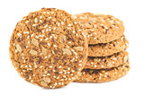 Oatmeal cookies with seeds isolated