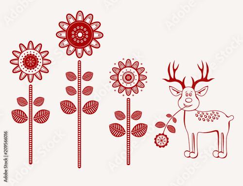 Kwiaty folk - 209566016